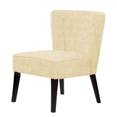 Lasalle Hardwood Frame Slipper Chair Upholstery: Light Cream