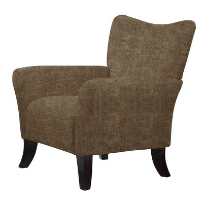 Laseter Armchair Upholstery: Dark Brown