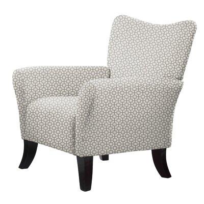 Laseter Wood Legs Arm Chair Upholstery: Brown