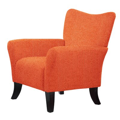 Laseter Upholstery Arm Chair Upholstery: Orange Red