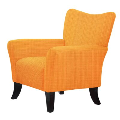 Laseter Accent Armchair Upholstery: Orange