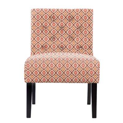 Lashbrook Tufted Red/Orange Slipper Chair