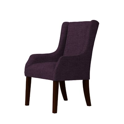 Macomb Wingback Chair Upholstery: Dark Purple
