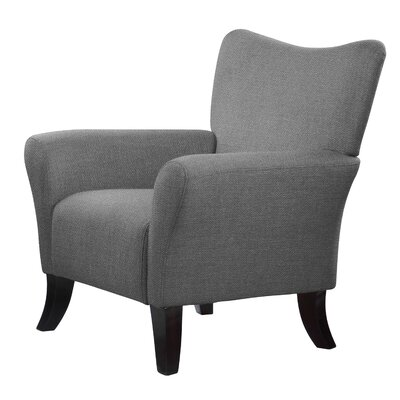 Laseter Bling Wood Legs Arm Chair Upholstery: Gray