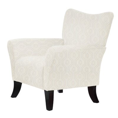 Laseter Cream Fabric Arm Chair