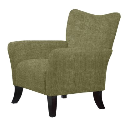Laseter Upholstery Wood Arm Chair Upholstery: Lime