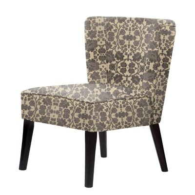 Gale Slipper Chair Upholstery: Dark Brown