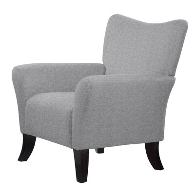 Leon Solid Armchair Upholstery: Light Gray
