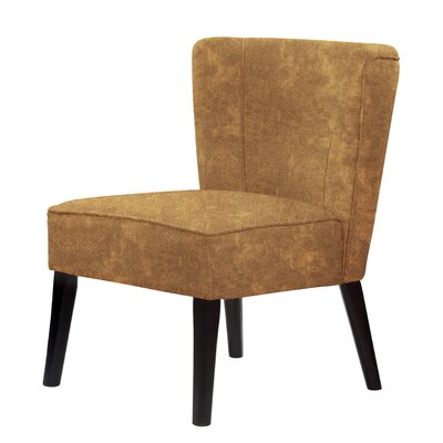 Lasalle Tufted Hardwood Frame Slipper Chair Upholstery: Brown