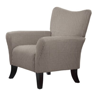 Laseter Cotton Arm Chair Upholstery: Gray