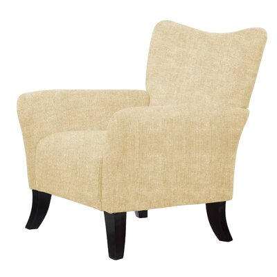 Laseter Upholstery Wood Arm Chair Upholstery: Cream