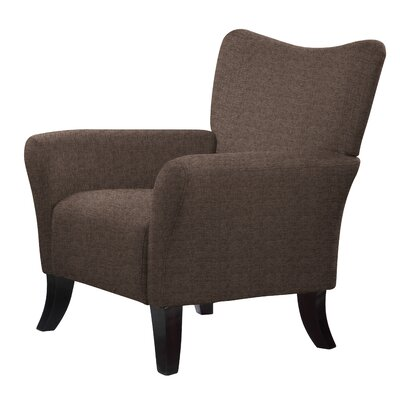 Madden Solid Armchair Upholstery: Brown