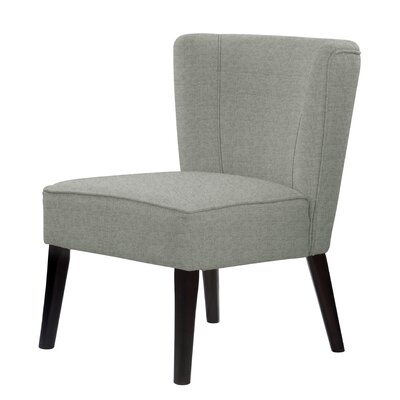 Lasalle Slipper Chair Upholstery: Light Green/Gray