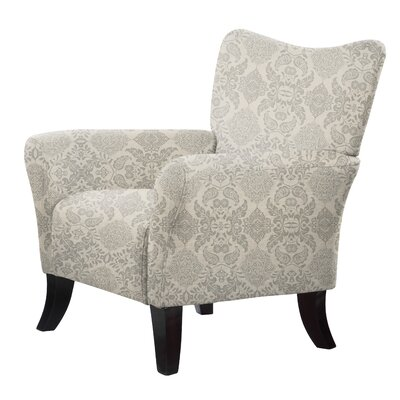 Laseter Flowers Gray Arm Chair