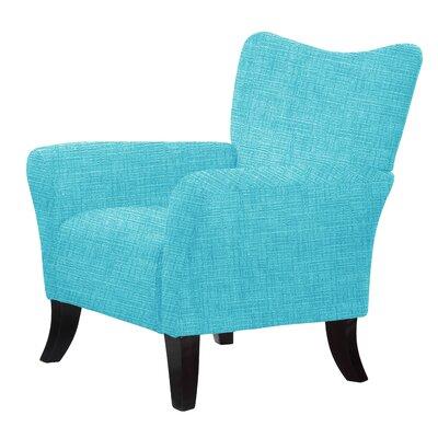 Laseter Upholstery Wood Legs Arm Chair Upholstery: Sky Blue