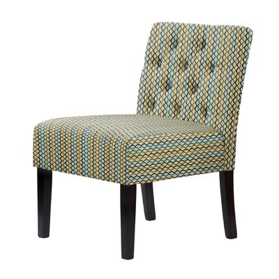 Lashbrook Slipper Chair Upholstery: Green