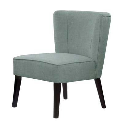 Lasalle Tufted Hardwood Frame Slipper Chair Upholstery: Green
