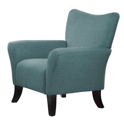 Laseter Curved Wood Legs Arm Chair Upholstery: Green