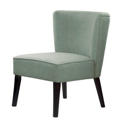 Lasalle Upholstery Cotton Slipper Chair Upholstery: Green