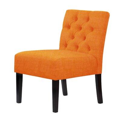 Lashbrook Slipper Chair Upholstery: Orange