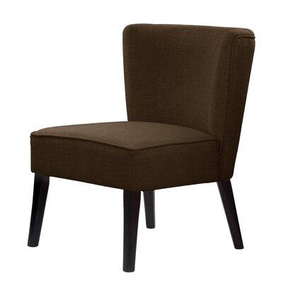 Lasalle Wood Legs Slipper Chair Upholstery: Brown