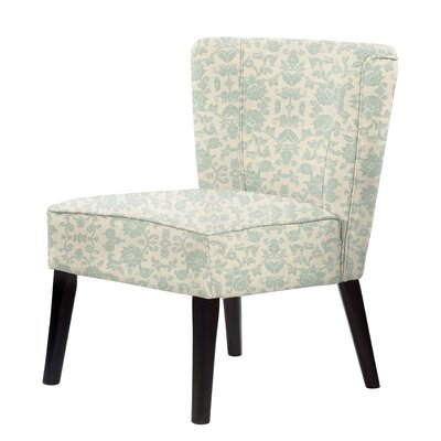 Gale Slipper Chair Upholstery: Green