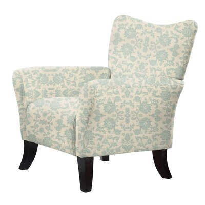 Laseter Upholstery Accent Arm Chair Upholstery: Green