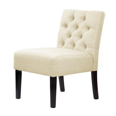 Lashbrook Upholstery Hardwood Slipper Chair Upholstery: Cream