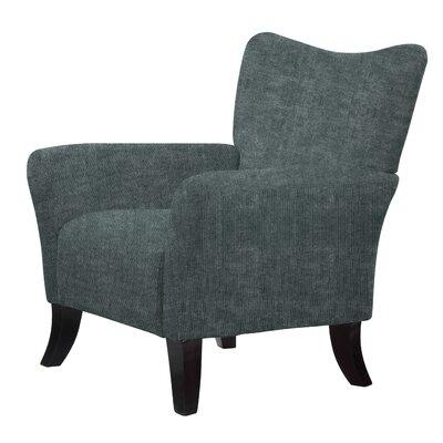 Laseter Upholstery Wood Arm Chair Upholstery: Dark Slate Gray
