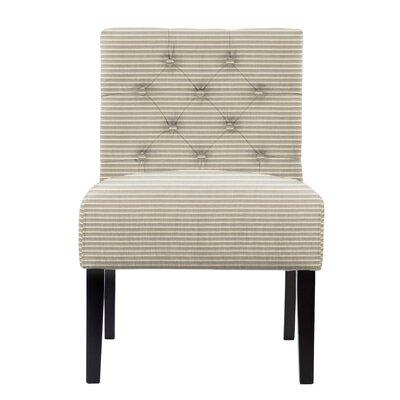 Lashbrook Tufted Horizontal Stripes Slipper Chair