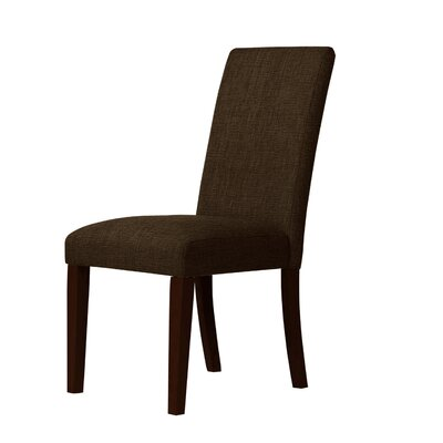 Beachwood Parsons Chair Upholstery: Dark Brown