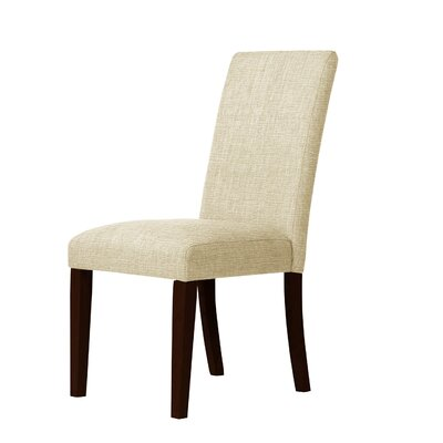 Beachwood Contemporary Parsons Chair Upholstery: Ivory