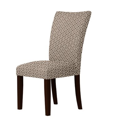 Wallington Geometric Parsons Chair Upholstery: Dark Brown