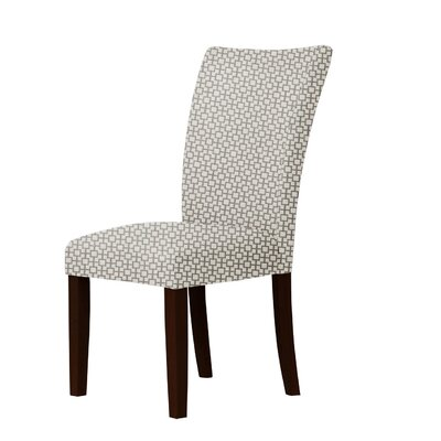 Wallington Geometric Parsons Chair Upholstery: Brown