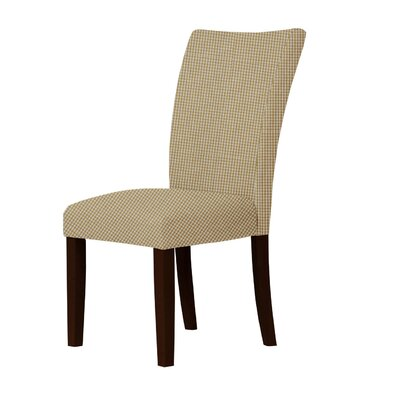 Wallington Contemporary Wood Parsons Chair Upholstery: Brown