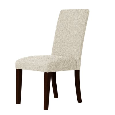 Beachwood Upholstered Formal Parsons Chair Upholstery: Ivory