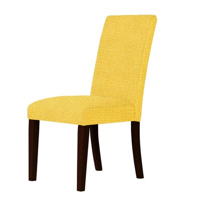Beachwood Upholstered Solid Back Parsons Chair Upholstery: Yellow
