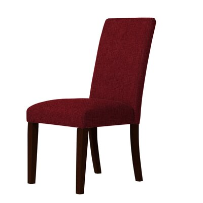 Beachwood Parsons Chair Upholstery: Dark Red