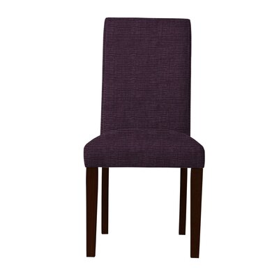 Beachwood Parsons Chair Upholstery: Dark Purple