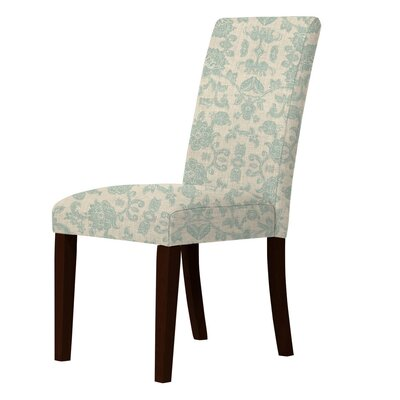 Lattimore Solid Back Parsons Chair Upholstery: Green