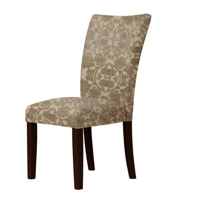 Latham Upholstered Dining Chair Upholstery: Brown