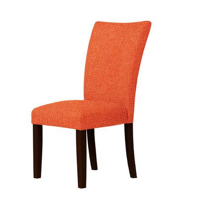 Wallington Pin Head Parsons Chair Upholstery: Orange Red