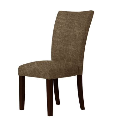 Wallington Wood Legs Parsons Chair Upholstery: Dark Brown