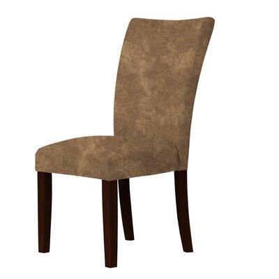 Wallington Wood Legs Parsons Chair Upholstery: Brown