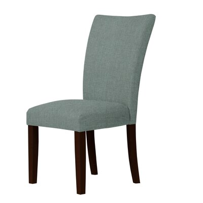 Wallington Wood Legs Parsons Chair Upholstery: Green