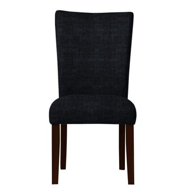 Wallington Parsons Chair Upholstery: Black