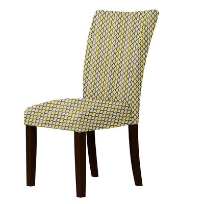 Wallington Latice Parsons Chair Upholstery: Brown