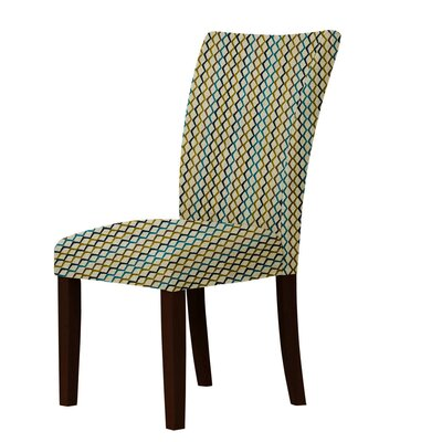 Wallington Latice Parsons Chair Upholstery: Green