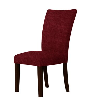 Wallington Parsons Chair Upholstery: Red