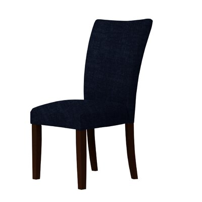 Wallington Solid Wood Legs Parsons Chair Upholstery: Dark Blue
